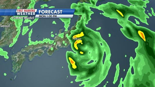 Tokyo may get hit by a typhoon during the Olympics