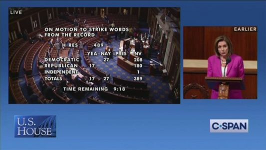BREAKING: Chaos in the House as Vote to Strike Pelosi's Trump Remarks From the Record Fails
