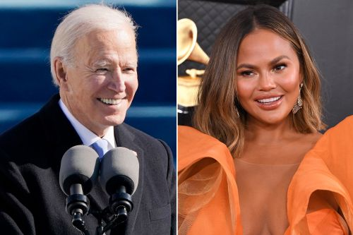 Chrissy Teigen reacts to follow from Biden's POTUS Twitter account