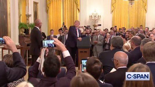 WATCH: Trump and Mariano Rivera Walk In to 'Enter Sandman' at Presidential Medal of Freedom Ceremony
