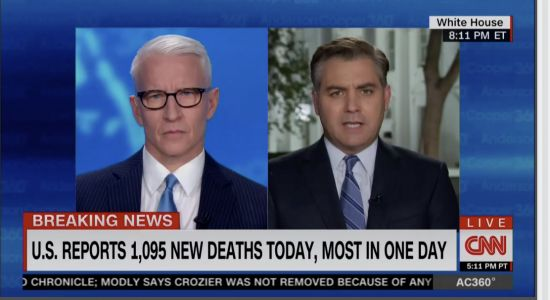 Anderson Cooper Leads CNN's Friday Cable News Ratings, Fox News' Trump Briefing Coverage Wins Big