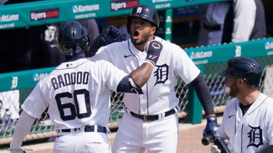 Detroit's Baddoo homers on first pitch of first MLB at-bat