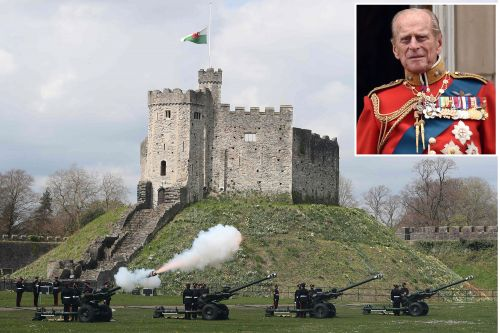Britain's military honors Prince Philip with 40-minute gun salute