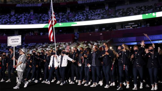Look: Americans enter Olympic Stadium in Tokyo for opening ceremony