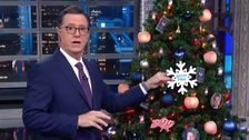 Stephen Colbert's Hilarious Trump Impeachment Tree Features A Very NSFW Ornament