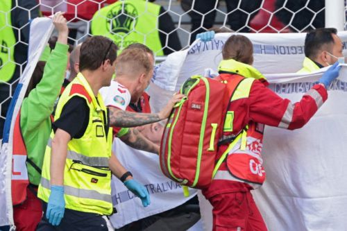 Danish Soccer Star Christian Eriksen Collapses and Receives CPR on Soccer Pitch During Euro 2020 Match