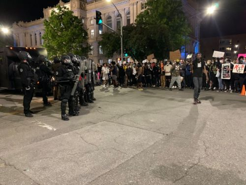 WATCH LIVE: Protesters and Police Face Off in Downtown Des Moines