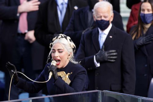 Lady Gaga belts out emotional national anthem at Biden inauguration