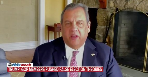 Chris Christie: 'Shameful' for Republicans to Keep Pushing Election Lies Just to Score 'Political Points'
