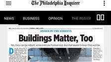 Philadelphia Inquirer Staffers Launch Protest After Paper's 'Buildings Matter, Too' Headline