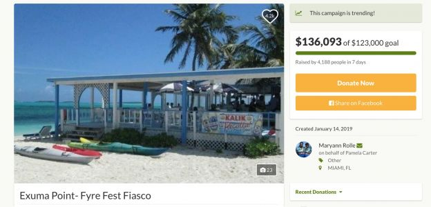 A GoFundMe Successfully Raised Over $130K For the Restaurant Owner in the Fyre Documentary