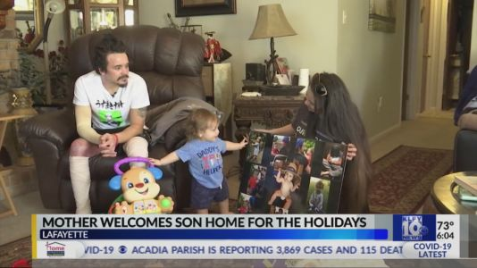 Mother welcomes son just in time for the holidays after surviving tragic explosion