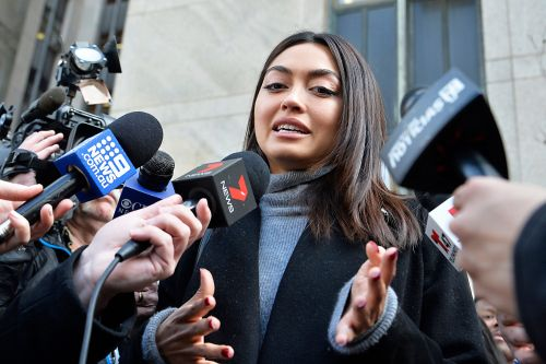 Harvey Weinstein accuser Ambra Gutierrez celebrates conviction outside court