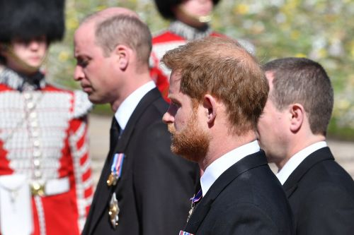 Lip readers decipher what Prince William said to Harry at Philip's funeral