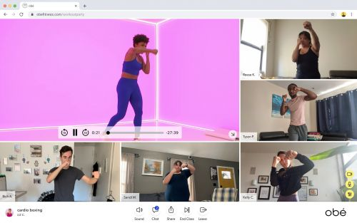 Sweat and Socialize With Your Friends With Obé's New Virtual Workout Parties