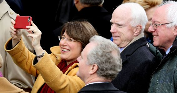 Amy Klobuchar Tells Crowd John McCain Compared Trump to Dictators WHILE Trump Was Being Inaugurated