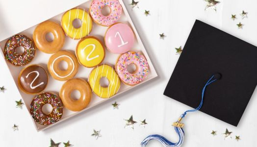 "Throw Your Cap in the Air! Krispy Kreme Is Bringing Back the ""Graduate Dozen"" For 2021"