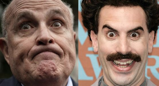 'Oh My God': Twitter Has. Thoughts On Rudy Giuliani's 'Beyond Cringe' Borat Scene: