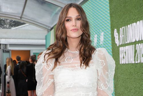 Keira Knightley returns to the red carpet after giving birth