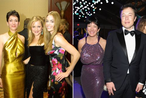 A pre-arrest Ghislaine Maxwell with some of her famous friends