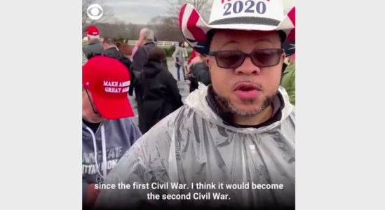 Trump Rallygoer From Viral CBS Video Who Warned of 'Second Civil War' Is Actually an InfoWars Host